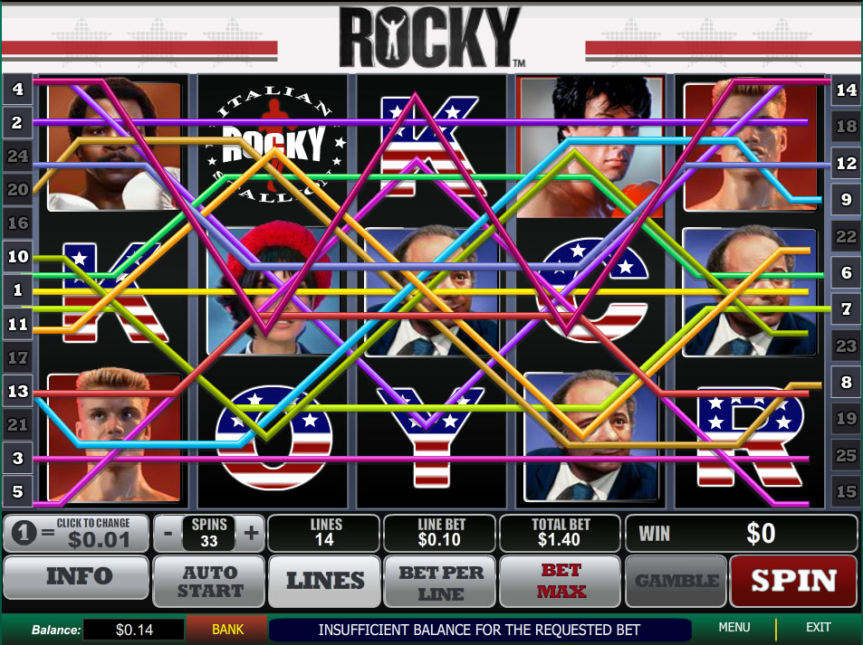How to Play the Online Rocky Slot Machine