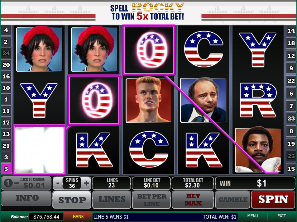 The Rocky video slot game – Get Free Bonus Money!